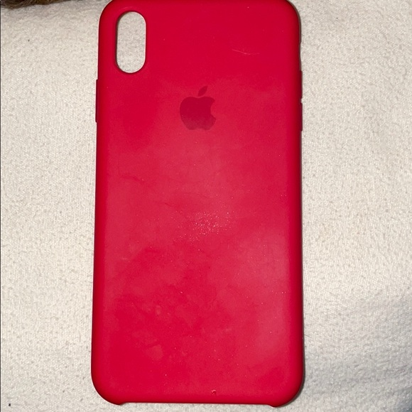 Red Apple IPhone X Max Case